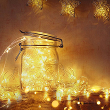 2 м 5 м 10 м Медь светодиодный ночной Светильник s цветная(RGB) прикроватный столик домашний декор, Волшебная гирлянда светильник Батарея питание гирлянды светодиодные лампы для Свадебная вечеринка