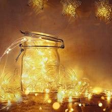 Guirlande lumineuse alimentée par batterie, lampe RGB LED pour la nuit, décoration de Table de chevet, maison, pour fête de mariage, 2M 5M 10M