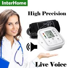 Live Voice Arm blood pressure bp monitor tonometer hematomanometer sphygmomanometer pulsometros health monitors care for heart