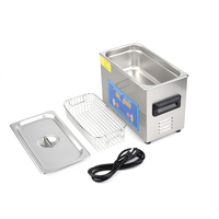 4.5L Stainless Steel Industry Heated Ultrasonic Cleaner with Heater Timer with Built In Transducer for Jewelry Cleaning