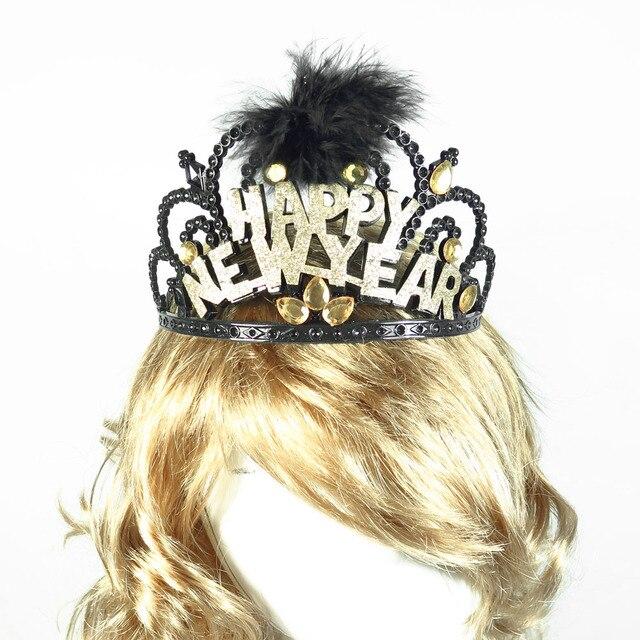 Tiara Hat Black Glitter