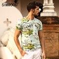 SIMWOOD Marca 2016 New Mens T shirt do Verão de manga Curta O-pescoço imprimir Magro Ocasional Dos Homens Cobre T Plus Size Frete Grátis TD1082