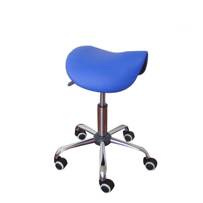 Rolling Massage Chair Saddle Stool Leather Upholstery Portable - Perabot - Foto 4