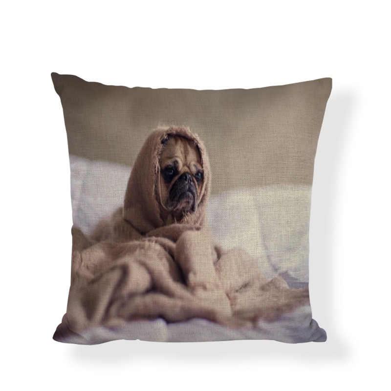 คุณภาพสูงน่ารักสดใสหมอนหมอนสุนัขเล่นห้องนั่งเล่นโซฟาห้องนอนเตียงเบาะรถบ้านตกแต่งเบาะ Cover 45*45 ซม.