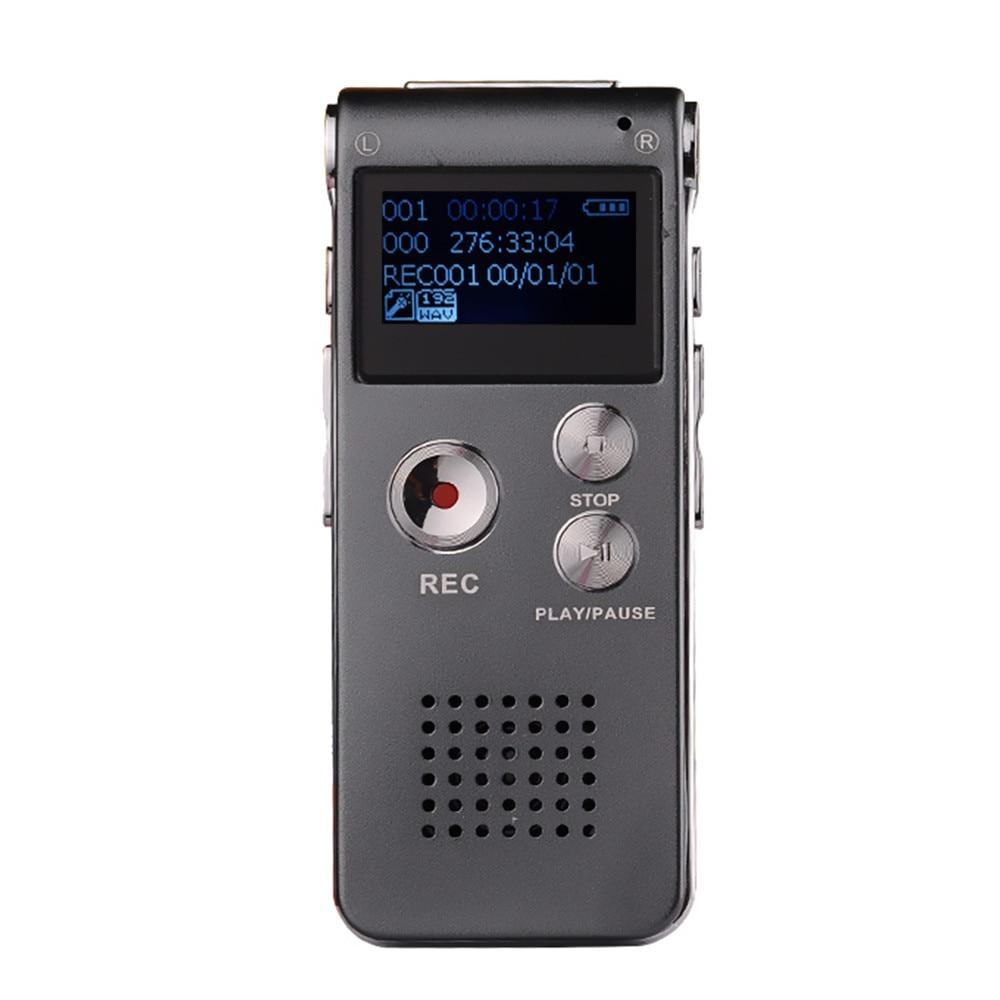 Новое поступление 8 ГБ мини голос Регистраторы Flash Цифровой Аудио Голос Регистраторы 650Hr Диктофон 3D стерео MP3-плееры