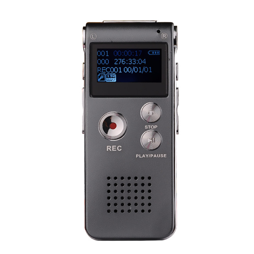 Neue Ankunft 8 GB Mini USB Voice Recorder-Digital Audio Voice Recorder 650Hr Diktiergerät 3D Stereo Mp3-player