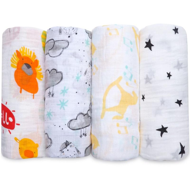 NEW Cotton Baby Blankets Newborn Soft Muslin Swaddle Wrap Feeding Scarf Baby Bath Towel Baby Boy Baby Girl Stroller Accessories