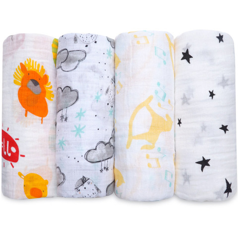 NEW Cotton Baby Blankets Newborn Soft Muslin Swaddle Wrap Feeding Scarf Baby Bath Towel Baby Boy Baby Girl Stroller Accessories Pakistan