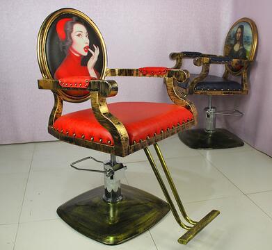 Custom-made Hair Cutting Chair Iron Art Hair Chair And Hair Salon European-style Hair Cutting Chair Shampoo Bed.