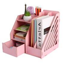Деревянные держатели для канцелярских принадлежностей, настольный держатель для хранения бумаги, органайзер для канцелярских принадлежностей, офисные принадлежности
