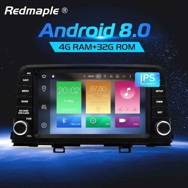"8"" 4G RAM Android 8.0 Car Radio GPS Navigation Multimedia Player Stereo For KIA PICANTO MORNING 2017 Auto Audio Headunit"