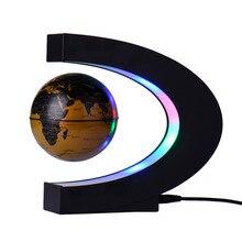 LED lampička, levitující glóbus v půlměsíci – funguje na bázi magnetu