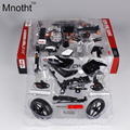 Mnotht 1:12 DIY KTM 690 White Motorcycle Model Diecast Assembly Line Motorcycle Model Vehicle for Kids Gifts or Collection