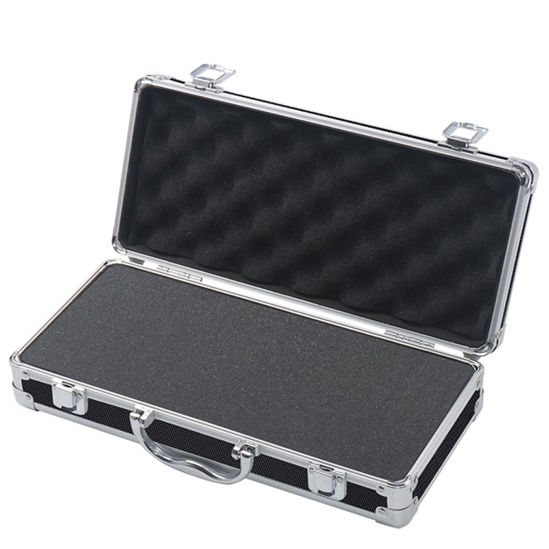 Portable Aluminum Alloy Tool Box Impact Resistant Safety Case Suitcase Storage Case With Sponge Lining 360x170x90mm