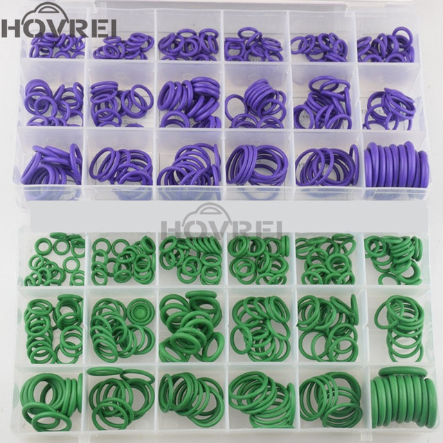 High Quality Rubber 270Pcs 18 sizes Car Auto O Rings Washer Seals Gasket Assortment car Air conditioning O-Rings Repair Tool Kit