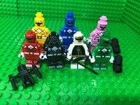 7pcs Power Super Heroes Avengers Assemble Building Blocks Education Toys For Children Dolls Rangeres