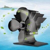 New 4 Blades Heat Powered Stove Fan Fuel Energy Saving Stove Fan Eco Friendly Premium Stove