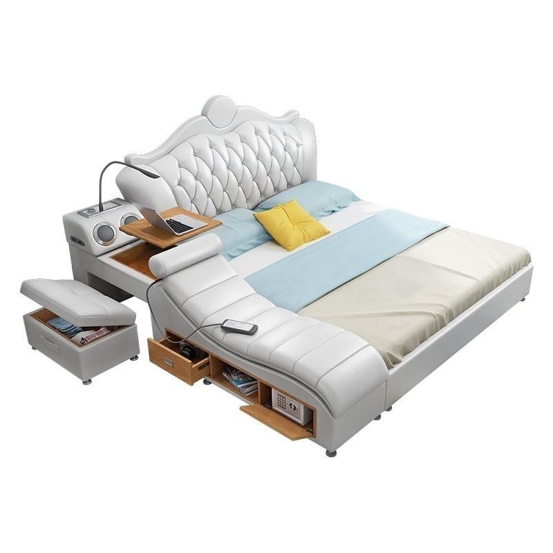 Dormitorio Mobili Box Letto Modern Ranza Bett Meuble De Maison Lit Enfant Leather Moderna Cama Mueble bedroom Furniture Bed
