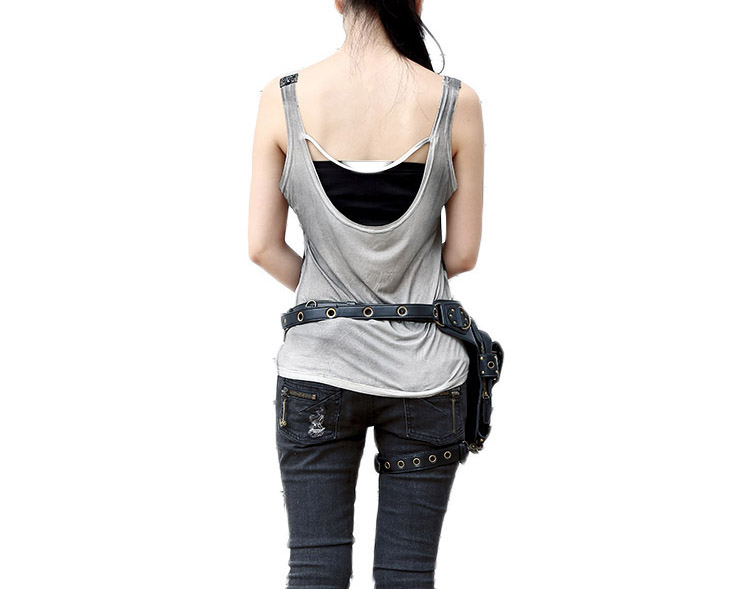 Hollow Out Gothic Rivet Waist Bag