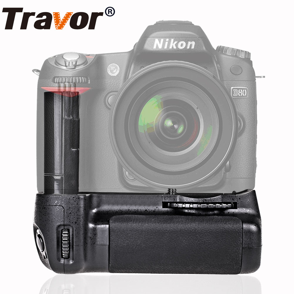 Travor Vertical Battery Grip holder for Nikon D80 D90 DSLR Camera as MB-D80 work with EN-EL3e battery godox cp 80 external flash battery pack for nikon sb800 sb900 speedlite flash power fast charger pack