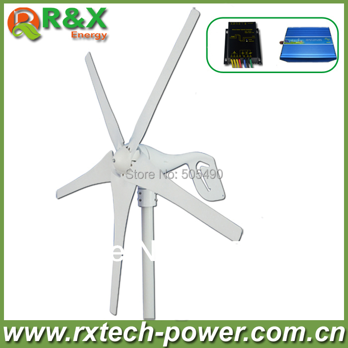Wind generator 400W wind turbine+wind/solar hybrid controller+600w off grid pure sine wave inverter. 400w wind generator new brand wind turbine come with wind controller 600w off grid pure sine wave inverter