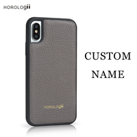 Horolgii Best Selling Germany calf skin for iphone X Xs case luxury mobile accessories custom name service dropship