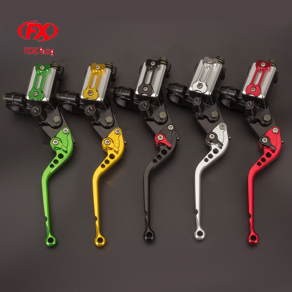 7/8 22mm 125-300cc Motorcycles Brake Clutch Levers Master Cylinder Reservoir For Kawasaki NINJA 250R 2008 - 2012 Z250 2013-2015 7 8 22mm universal motorcycles brake clutch levers master cylinder reservoir for suzuki 125 300cc moto hydraulic brake lever