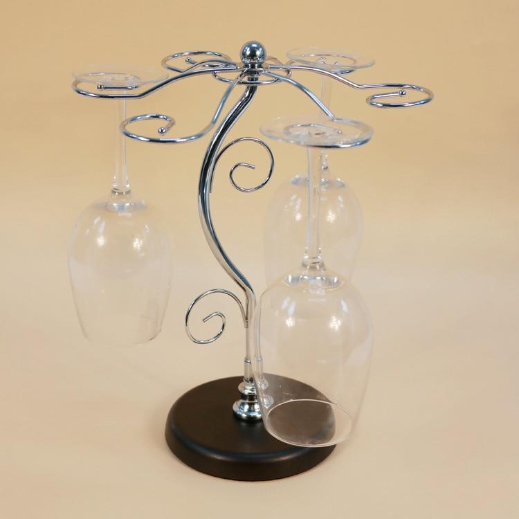 1PC Iron Wine Cup Rack Metal Frame Tree Of Life Goblet Bar Ornaments Bottle Rack Wine Racks Wine Glass Holders J2076