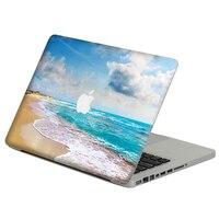 """Po stronie plaży laptopa kalkomania skórka do Macbooka Air Pro Retina 11 """"13"""" 15 """"Vinyl Mac pokrowiec na laptopa ciało pełne pokrywa skóry w Skórki do laptopów od Komputer i biuro na"""