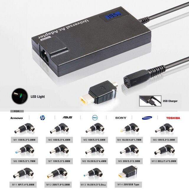 2016 90 Вт Автоматический Универсальный Блок Питания Для Ноутбука 5V2A USB Порт Для Мобильного телефона Tablet PC