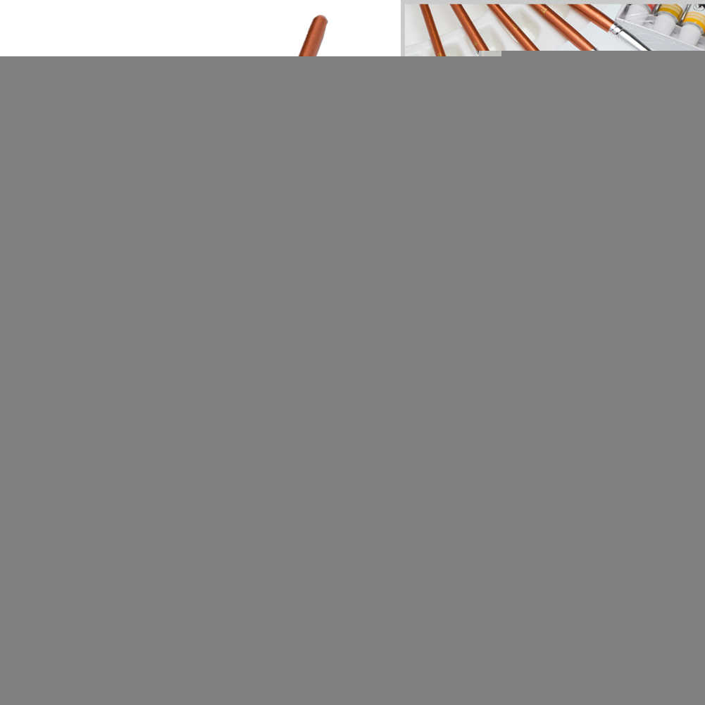 12 Pcs Perlengkapan Mutiara Kilau Cat Sikat Portabel Watercolor Nilon Minyak Lukisan Lembut Profesional Sekolah Gagang Kayu Halus