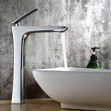 Латунный однорычажный горячий и холодный хром/золотой высокий кран для ванной раковины Высокий кран для раковины кран для ванной комнаты