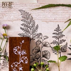 Image 2 - XINAHER בציר יער צמחים ירח קישוט בול עץ גומי בולים עבור כתיבה רעיונות DIY קרפט בול רגיל