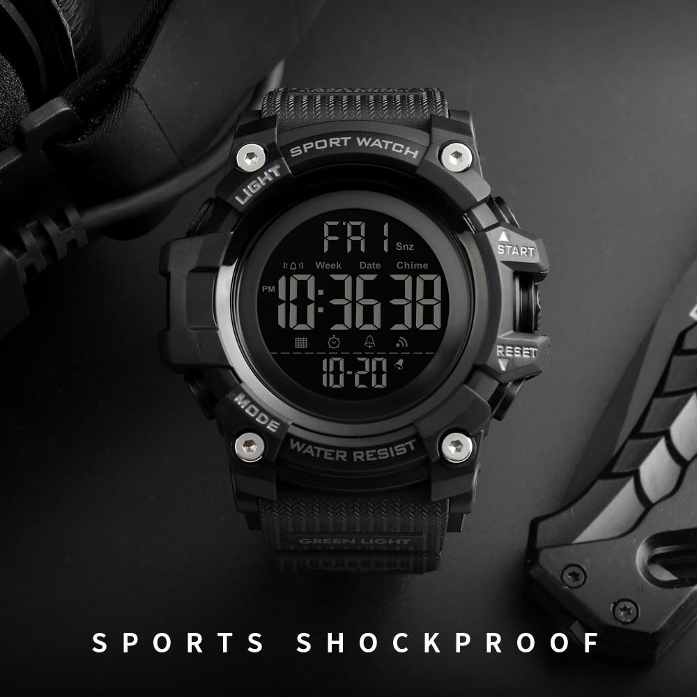 SKMEI Countdown Stopwatch Sport Watch Mens Watches Top Brand Luxury Men Wrist Watch Waterproof LED Electronic Digital Male Watch(China)