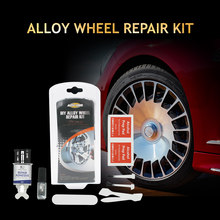 Auto Care DIY Alloy Wheel Repair Kit Silver Paint Fix Tool for Car Auto Rim Dent Scratch Care Accessory(China)
