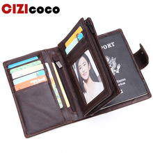 Genuine Cow Leather Men Wallet Fashion Coin Pocket Organizer Wallects High Quality Male Card ID Hold Passcard