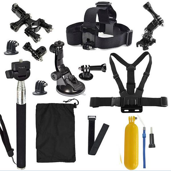 13 unids Básica Deportes Al Aire Libre Herramientas Bundle Kit para Gopro4 Action Sports Cámara