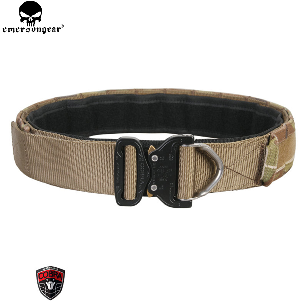 EMERSONGEAR D-Ring Riggers Combat Belt 1.75-2inch One-pcs Combat Belt Emerson Tactical Gear Hunting Accessories Multicam EM9342