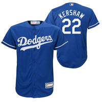 MLB Youth Los Angeles Dodgers Clayton Kershaw Royal Player Replica Jersey