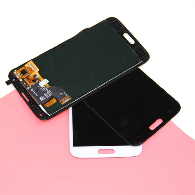 Putih Hitam LCD Pengganti S5 Tampilan Layar Sentuh untuk Samsung Galaxy S5 G900F G900 G900M LCD dengan Digitizer Perakitan