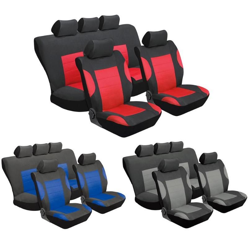 Car Seat Covers Set Universal Automotive Seat Covers Car Front Rear Seat+ Head Rest Full Set Auto Seat Covering Protector