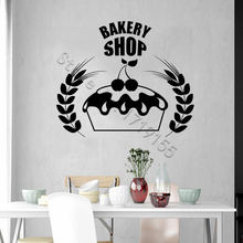 Bakery Shop Logo Wall Sticker Kitchen Vinyl Wall Decals  Bake Cafe Shop Interior Decoration Removable Decor Home Decor DIY ZW455 цена