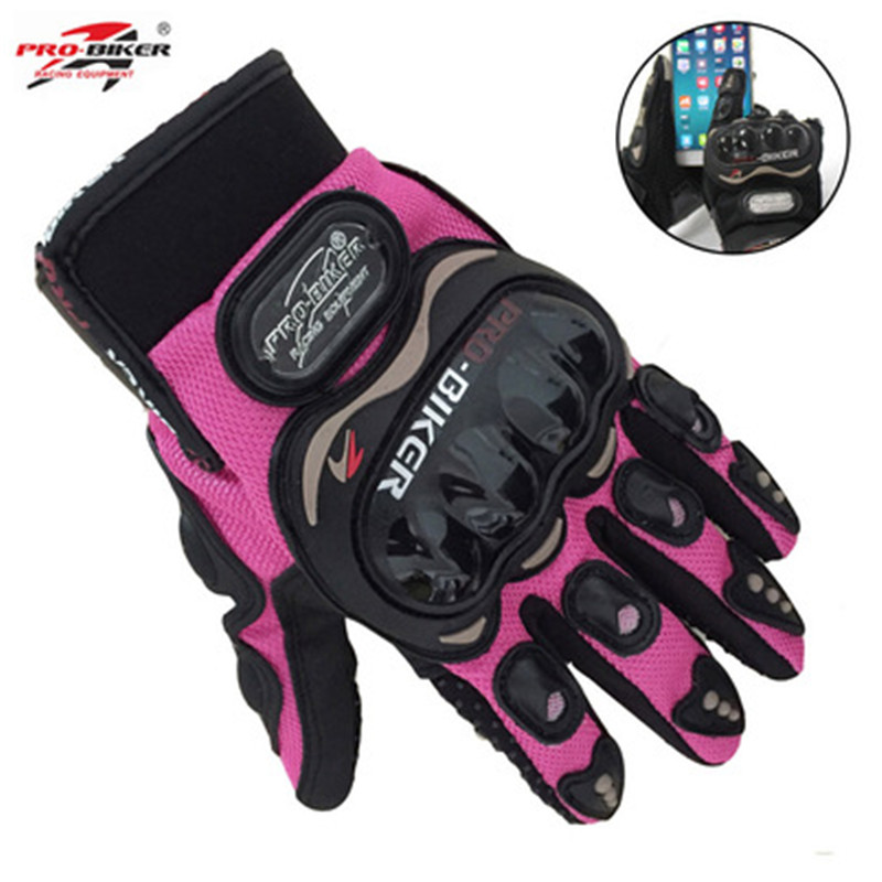 Ktmgp cavaleiro dedo cheio pequeno tamanho s rosa laranja preto feminino moto rcycle luvas de corrida moto mujer luva feminino tela toque gl