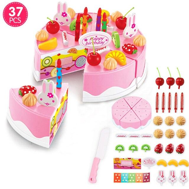 37PCS54PCS75PCS Girls Cake Toy DIY Fruit Cream Cake Model Kits