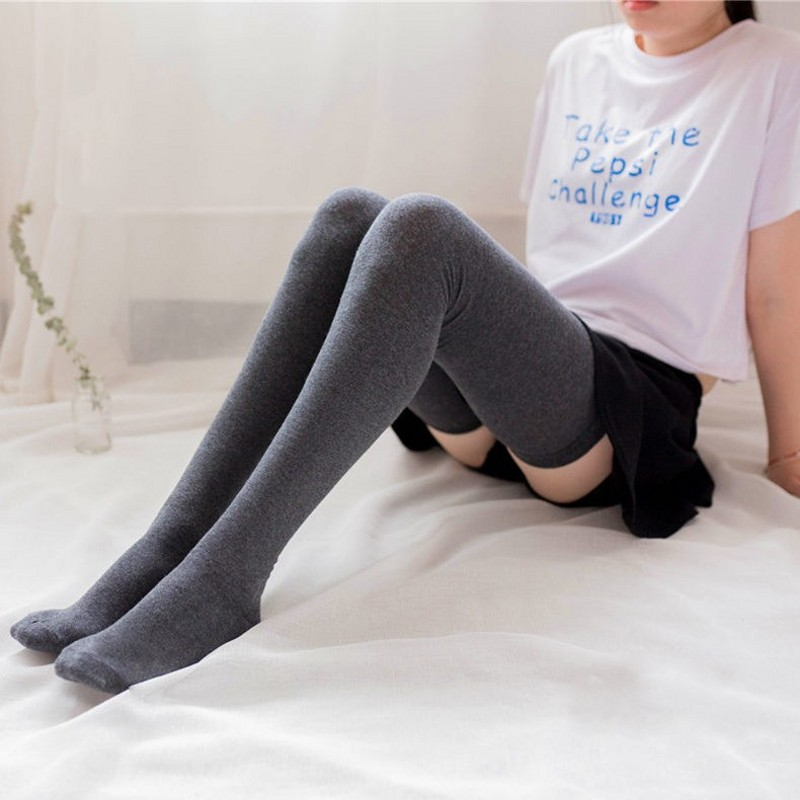 2 Pairs Tall Women Men Cotton Thigh socks over the knee Lengthen 80cm high tops women socks for height 185cm
