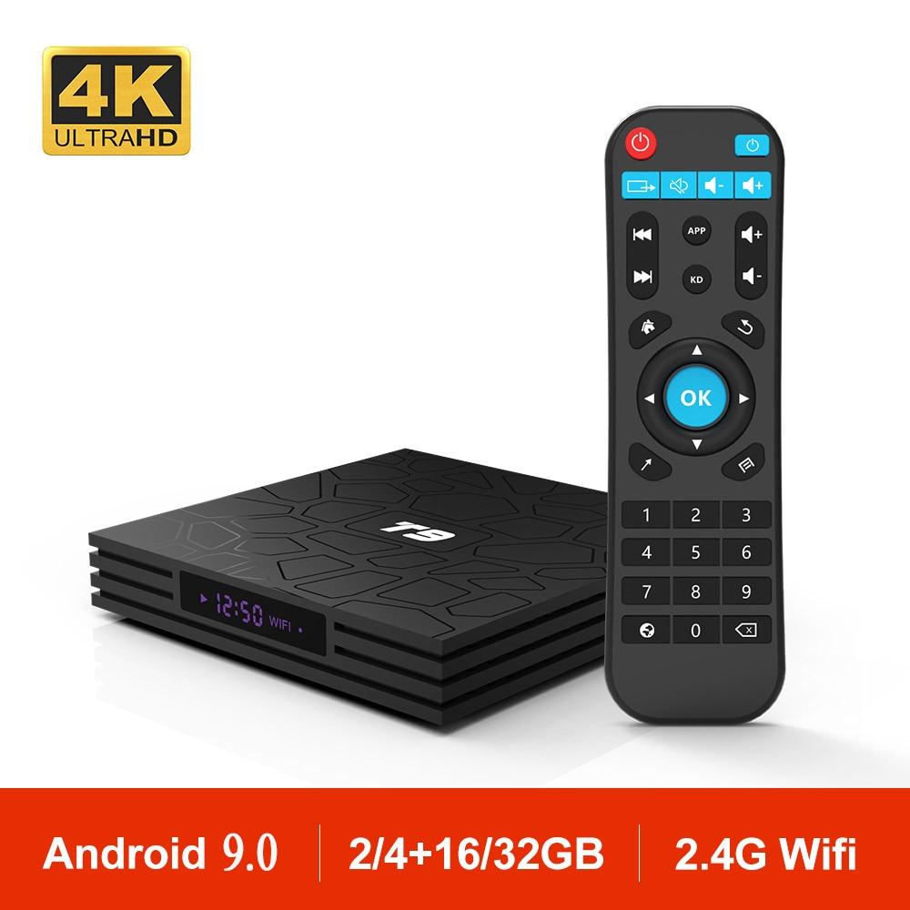 Android 9 0 T9 Smart TV BOX 4GB 32GB 64GB RK3328 Quad Core 1080P 4K WIFI