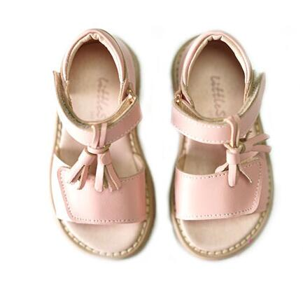 Reliable quality Genuine Leather Children sandals Fringe Student Non-slip kids shoes girls Beach shoes sandals for 2T-4T