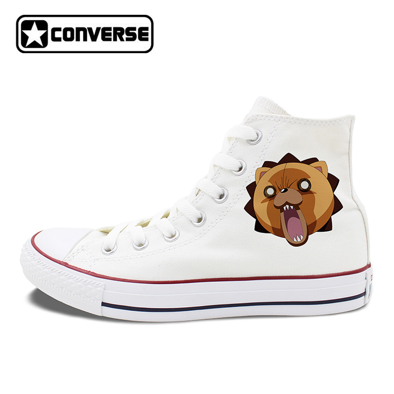Men Women Shoes Converse Chuck Taylor Design Anime Bleach Kon White Black Canvas Sneakers High Top Flat Walking Shoes