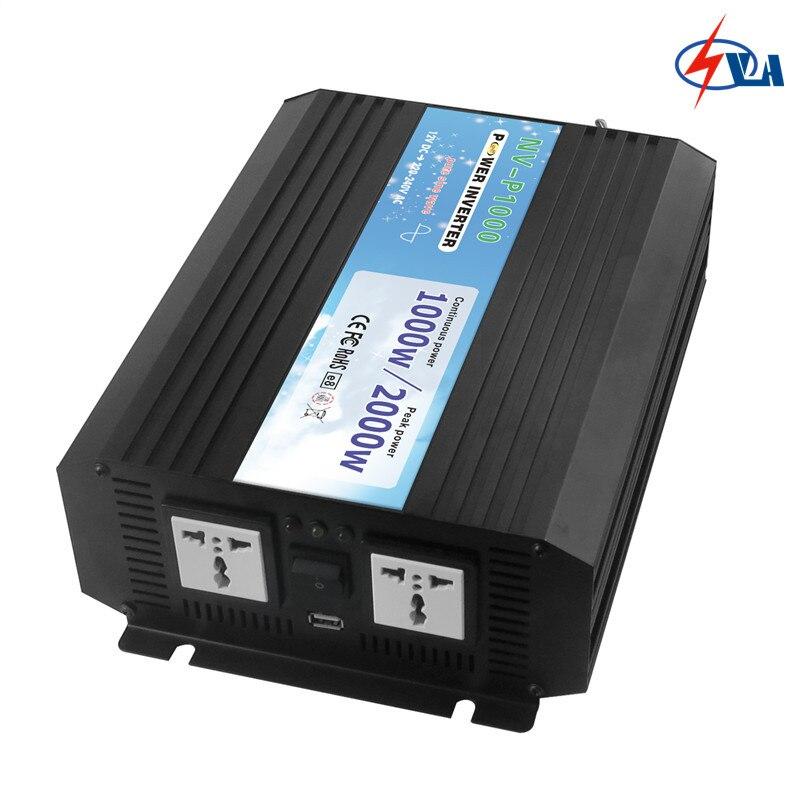 цена на NV-P1000-122 DC12V to AC220V Portable Pure Sine Wave Power Inverter Car Inversor/Invertor