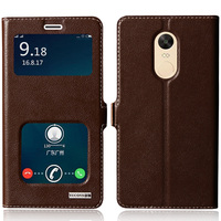 Cover Case For Xiaomi Redmi Note 4X Top Quality Natural Genuine Leather Magnetic Flip Stand Mobile